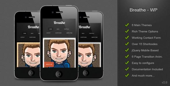 Breathe - Mobile Wordpress WebSite