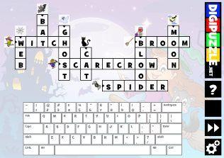 Halloween Picture Crossword Puzzles