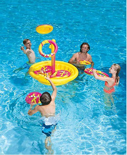 Golf Games Collection   49 Inflatable Yellow and Red Swimming Pool or Yard Disc Golf Game >>> You can find out more details at the link of the image. Note:It is Affiliate Link to Amazon.