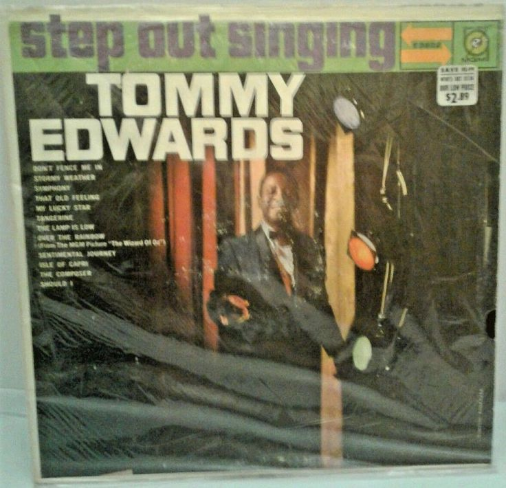 "TOMMY EDWARDS 33 RPM Vinyl ""Step Out Singing"" MGM RECORDS E3822 Pop Vocal SHRINK #PopVocal"