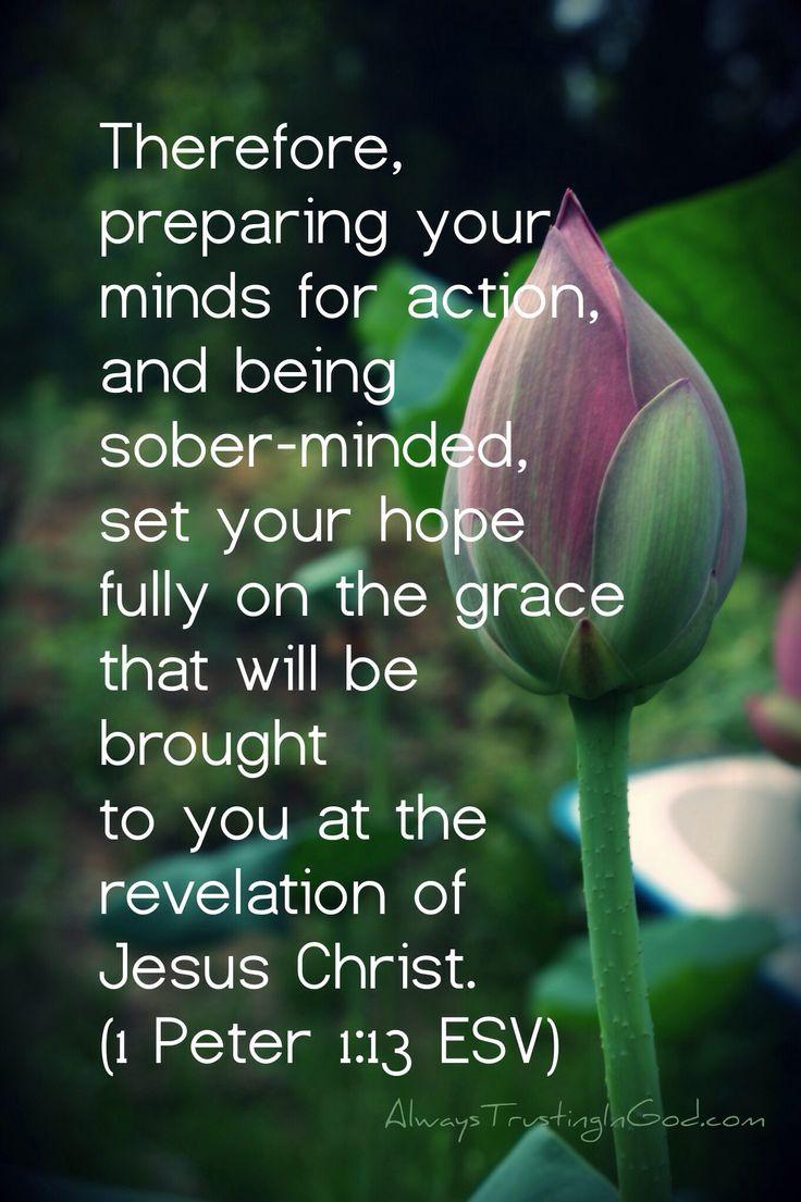 1Peter 1:13 Kern van vasthouden aan onze Heere Jezus Christus