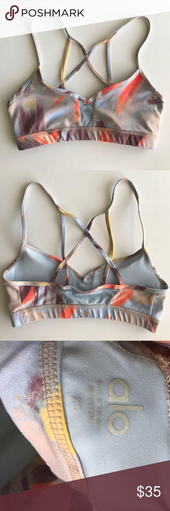 Also Yoga Goddess Bra New without tags- was hand washed and laid flat to dry once, never worn. Features mesh inset in front and back center & Strappy details in back. Super cute!  💙No Trades💙 ALO Yoga Intimates & Sleepwear Bras