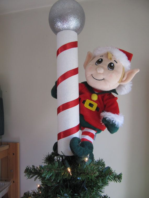 Christmas Tree Topper Elf  North Pole Santa by Christmastreetops