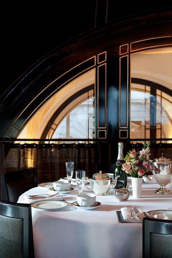 dustjacketattic:champagne afternoon tea | The Worsley, London