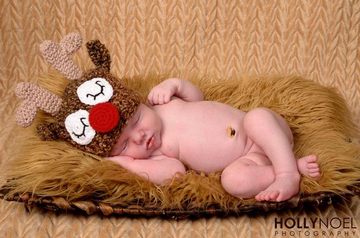 Newborn reindeer hat crochet christmas hat by MRocheCrochet, $21.00