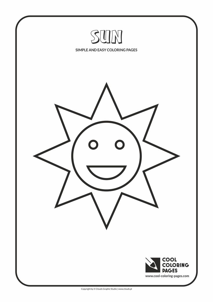 Simple and easy coloring pages for toddlers - Sun