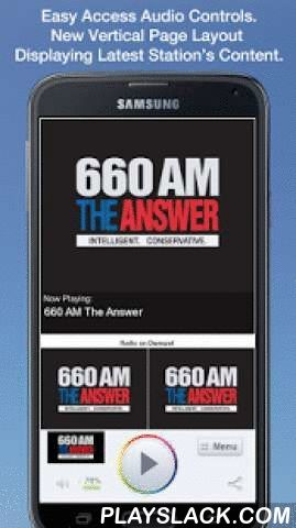 660 AM The Answer  Android App - playslack.com , We are 660 AM The Answer. The home of Mark Davis, Sean Hannity and more.We make a promise everyday when we go on the air. We must deliver on that promise. We never want our listeners disappointed.We always want to be the answer to the question: What's going on, here, there or anywhere. We'll inform you about the day's news and events, with smart, passionate hosts. We know you have many choices to listen to in Dallas - Fort Worth. We appreciate…