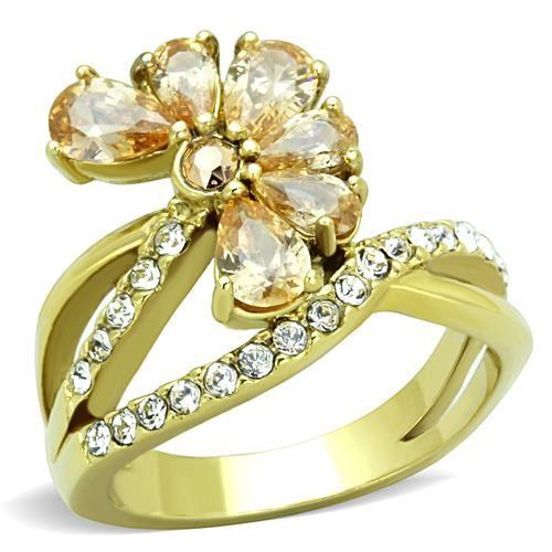 PR8106ZGOC Prsteň z chirurgickej ocele so zirkónmi : Šperky Swarovski, SuperSperky.sk  #supersperky #krasnesperky #sexysperky #prsten #zlato #sperky #sperk