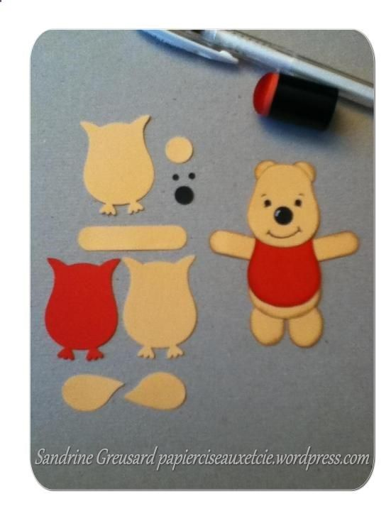 winnie the pooh punch art with Stampin Up owl punch