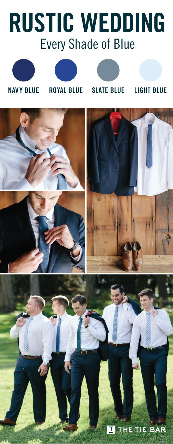 Ties & Accessories To Match Every Wedding Color Imaginable. #navywedding #weddinginspiration #groom