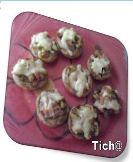 As Receitas da Ticha: Cogumelos Recheados