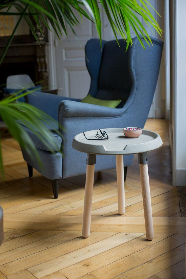Looking To Accomplish The Industrial Look With Your Home Decor? The Mix  Side Table Includes Just The Right Balance Of Wood And Concrete To Achieve  That ...