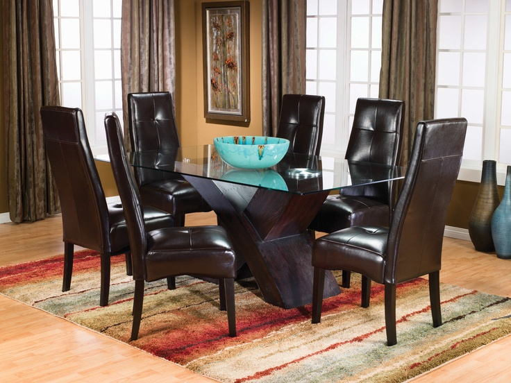 Chairs For The Dining Room Monterey 5 Piece Dining Package W Brown Tufted Ch