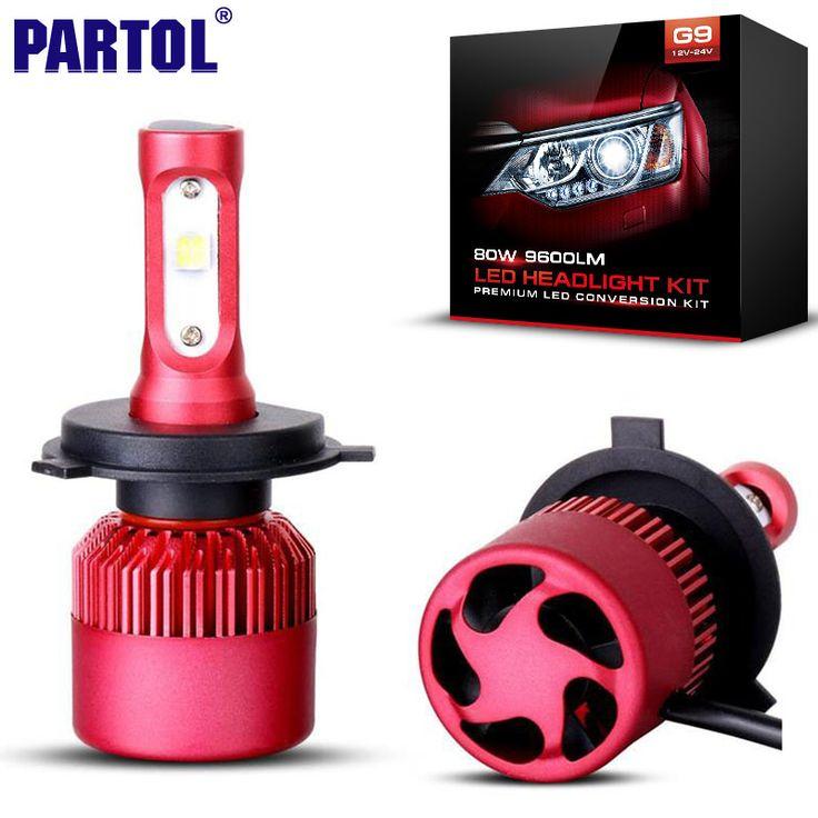 Vintage Partol H H H H Voiture LED Phare Ampoules W LM CREE XHP