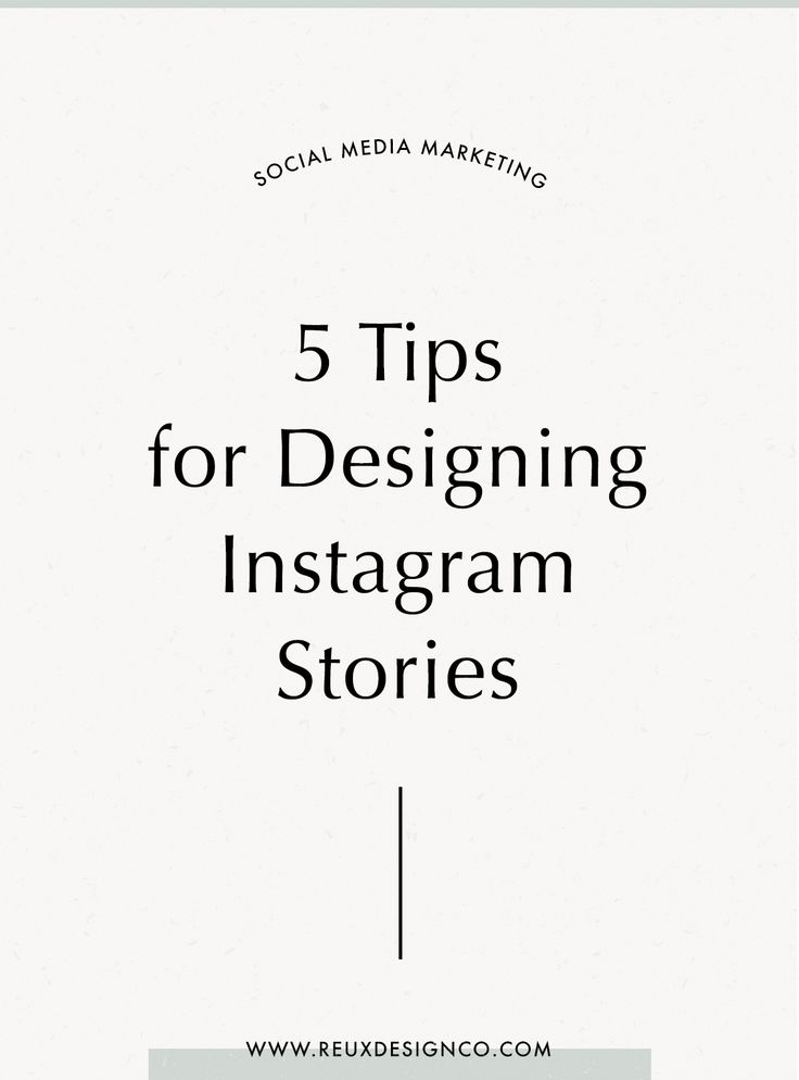 5 tips for designing instagram stories that connect and convert your audience   Holistic branding from Reux Design Co.