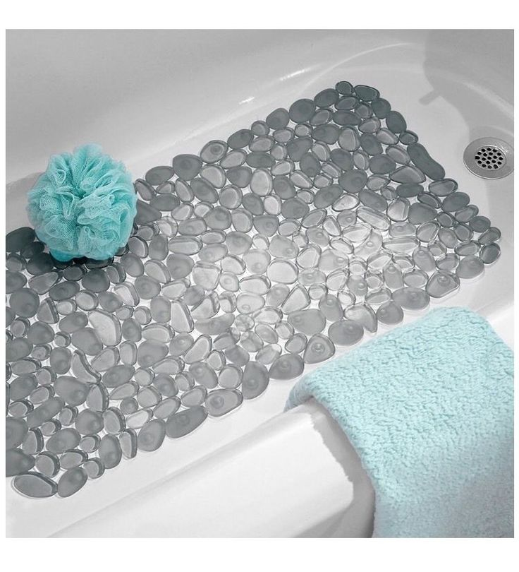 Non Slip Suction Mat For Bathtub Home Bathmat Shower Bathroom Decor Tub Dorm #InterDesign
