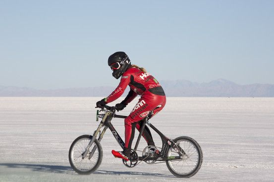 Woman at 147.7 Miles per Hour - On a Bike! - Denise Mueller bicycle land-speed record at the Bonneville Salt Flats - WSJ - Curated by: John McLaughlin, Master Day Trading Coach - https://www.linkedin.com/in/daytradingcoach   http://www.DayTradersWin.com  https://www.facebook.com/DayTradingStocks  https://plus.google.com/u/0/+JohnMcLaughlinStockCoach