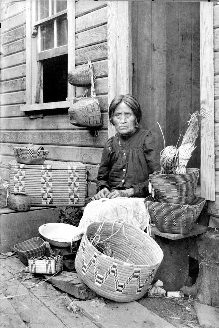 Woman with baskets VPL Accession Number: 9414  Date: 1903 Photographer / Studio: Fripp, T.W.  Could be Sophie Frank, friend of Emily Carr. http://www3.vpl.ca/spe/histphotos/