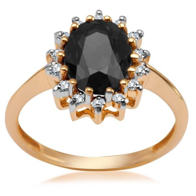 Złoty Pierścionek z szafirem i diamentami, 1 049 PLN, www.Bejewel.me/zloty-pierscionek-z-diamentami-1675 #jewellery #gold #bejewelme #bjwlme #shoponline #accesories #pretty #style