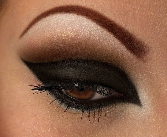 drama, goth, black, bronze, makeup, eyes, eye shadow