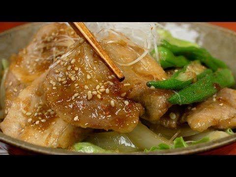 Summer Stamina Butadon (Pork Bowl) スタミナ豚丼 作り方レシピ - YouTube