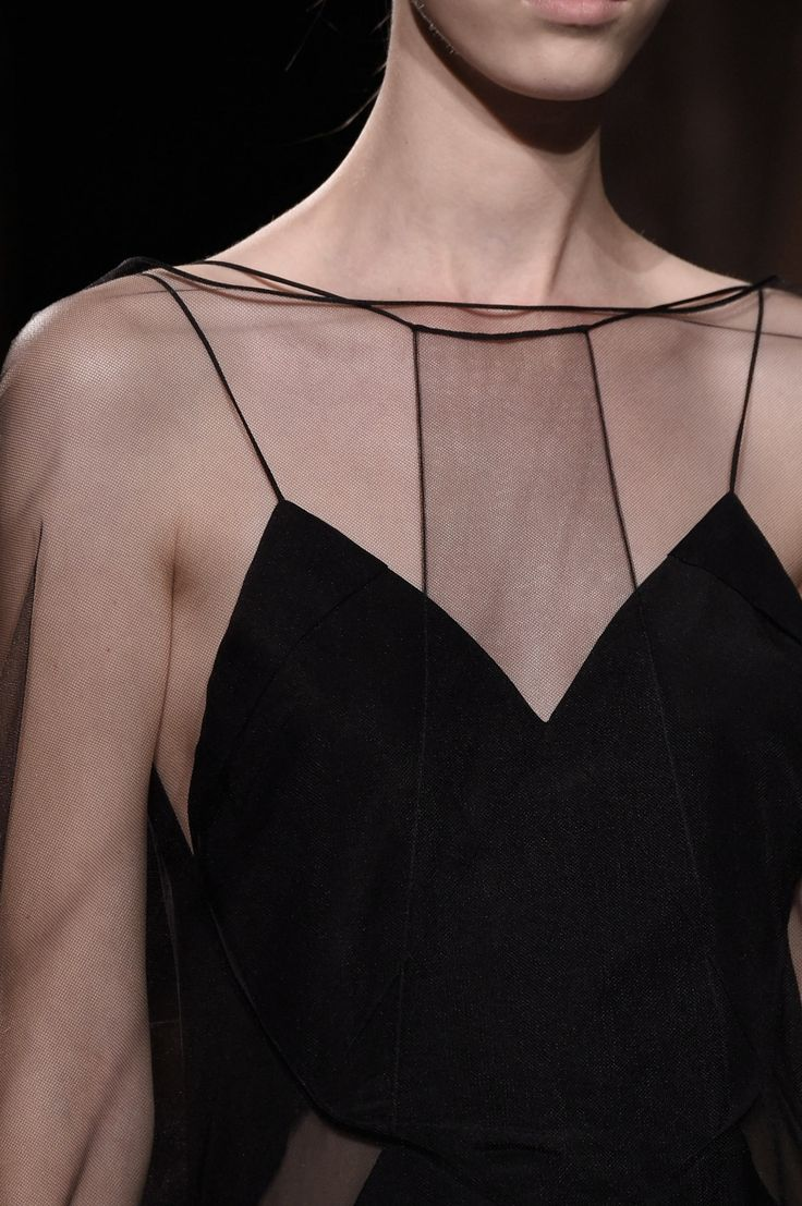 Sheer Elegance - black dress; fashion details // Vionnet Spring 2016