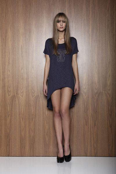 Hailwood Viper Print Tee Dress