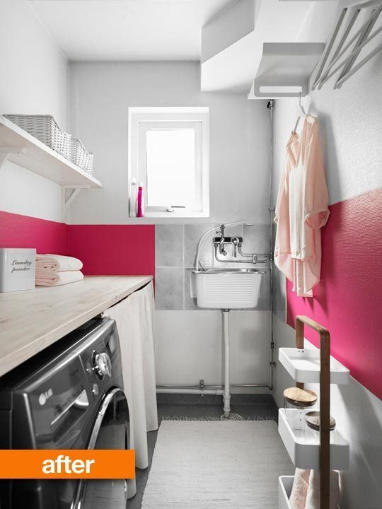 This is what a Scandinavian washroom looks like:  Before & After: Laundry Room G…