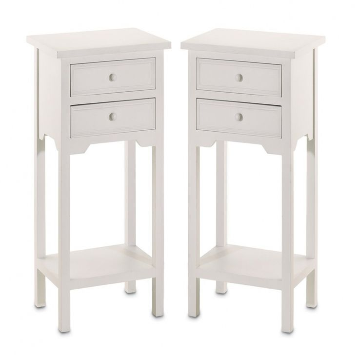 White Bedroom End Tables - Pictures Of Bedroom Makeovers Check more at http://maliceauxmerveilles.com/white-bedroom-end-tables/