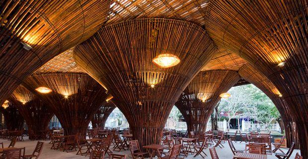 Kontum Indochine Café (looks like a bamboo forest!)