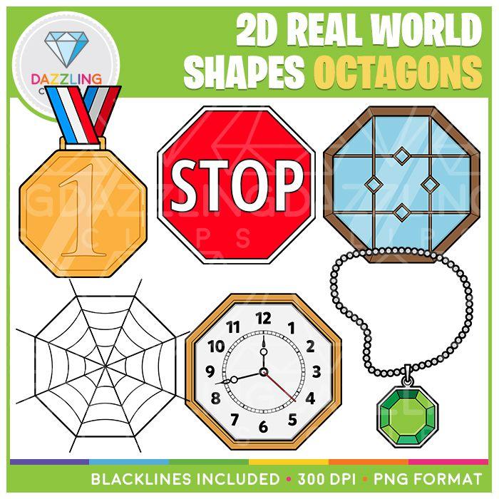 2d Shapes Real Life Objects Clip Art Octagons 2d Shapes Clip Art Shapes