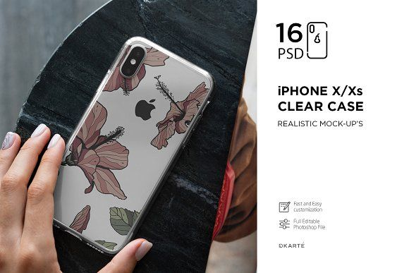 Download Iphone Xs Clear Case Mock Up Vol 2 Clear Cases Case Visiting Card Design Psd