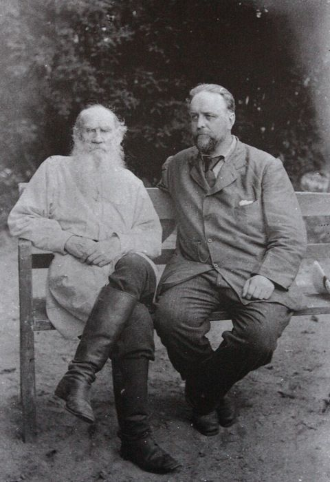 Leo Tolstoy (1828 – 1910) with Vladimir Chertkov, his friend, editor and publisher