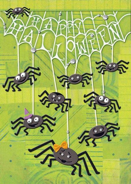 Hanging Spiders Greeting Card   DesignDesign, Inc.