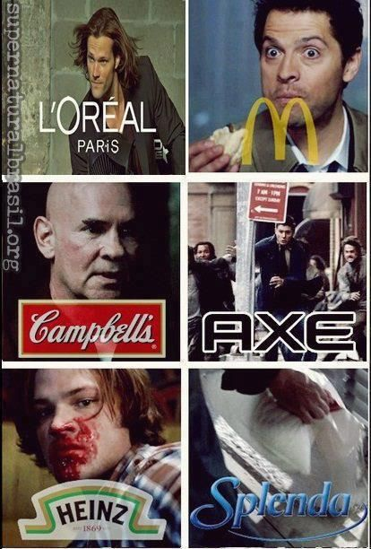 Supernatural humor. That one episode where Cas wouldn't stop eating hamburgers. Gosh. Can we all just take a moment to appreciate that this show even exists?
