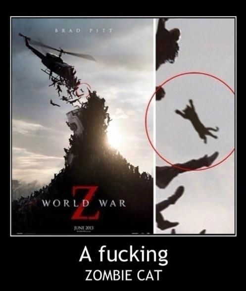 [NSFW] Well, there were zombie dogs in Resident Evil, so why not zombie cats here? (via Zombie Apocalypse Survival Guide)