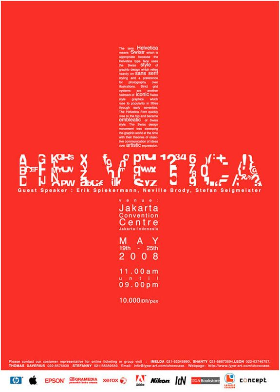 event poster - helvetica