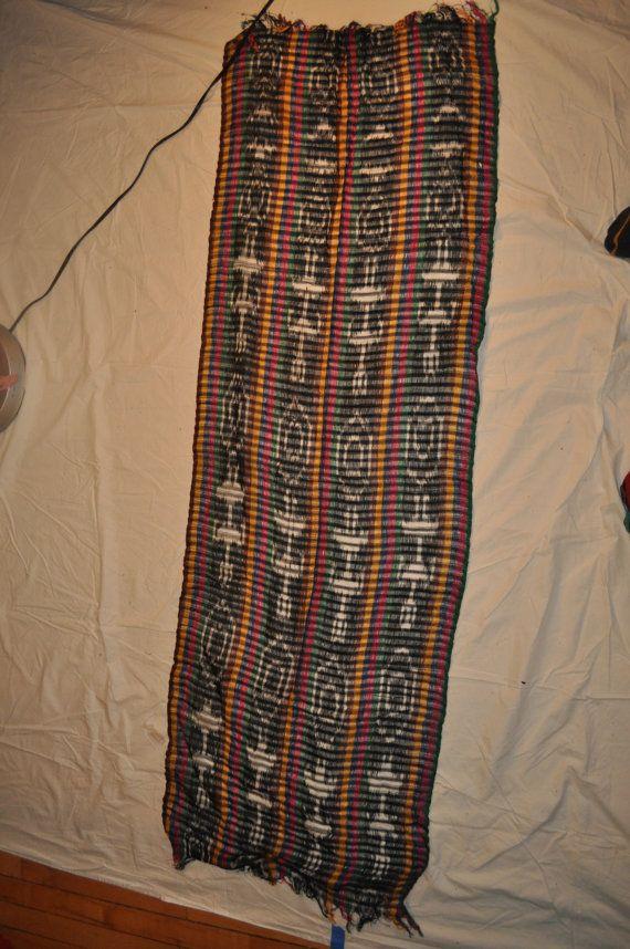 Rainbow scarf from Guatemala by ShirasSalon on Etsy