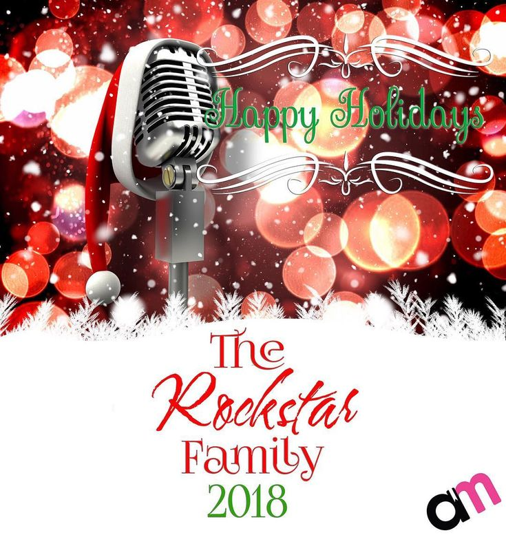 Happy Holidays to you and your family!  From  The Rockstar Family  Jesse Lucy Kaid Killian Konnor Kierah Sera & Cage Ben & Coley Jace Summer Kadi Ethan Lincoln Kennedy Xander & Tera Meggie & Trace Regina & Anthony Russo Gio & Carlotta Russo