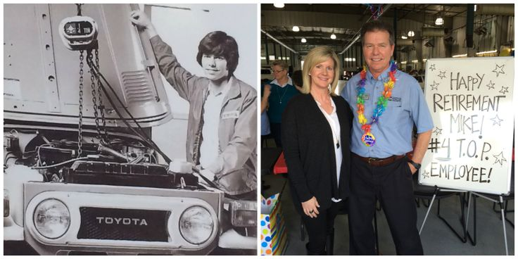 After 40+ years with Toyota of Puyallup, Service Advisor Mike Bibeau retires today from our dealership (pictured here with Toyota of Puyallup Owner, Kerry Bivens). While we are all very sad to see Mike go, we hope you will join us in wishing him all the best in his future endeavors.  Thank you, Mike, for being one of the BEST in the business - you will be missed!