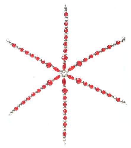 Lasihelmistä syntyy helposti tähti tai lumihiutale valmiiseen teräslankapohjaan. http://www.helmikauppa.com/korutarvikkeet-korunosat-tahtipohjat-c-120_343.html