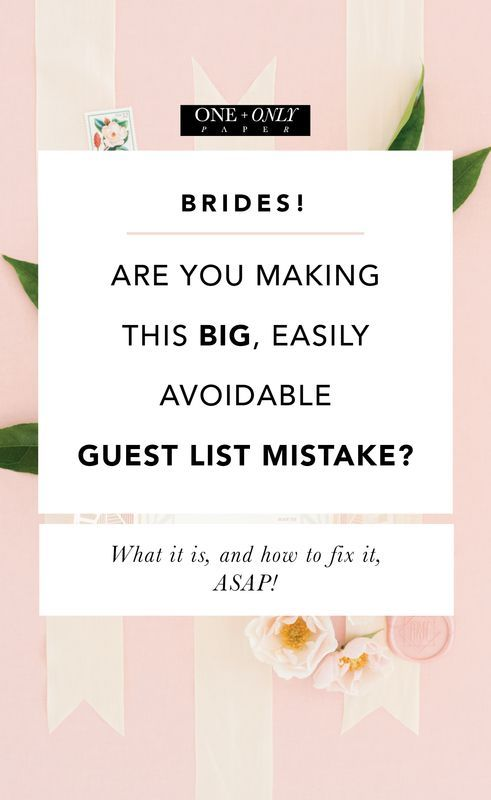 Are you making a huge mistake with your guest list? Download this easy guest address template to make sure your guest list is just right for your wedding!