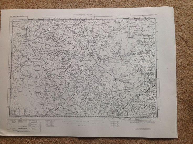 Ordnance Survey Map Lisnaskea N Ireland One Inch Flat 1900 Version Cartography