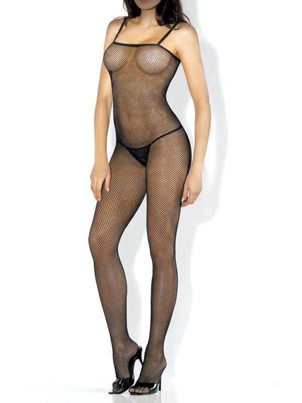Fantasy Lingerie Desire Hosiery Seamless Fishnet Body Stocking With Straps