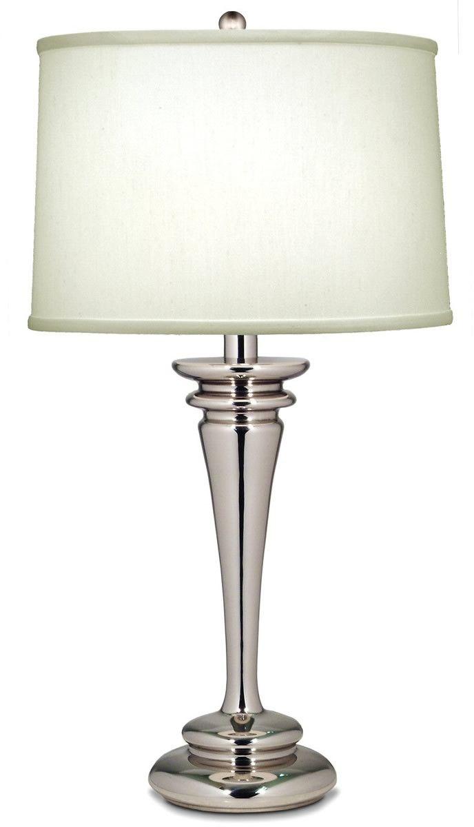29 inchh genuine stiffel 3 way table lamp polished nickel home. Black Bedroom Furniture Sets. Home Design Ideas
