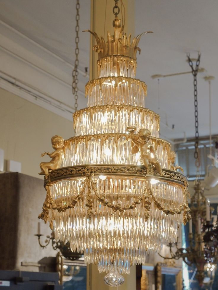 Antique French Baccarat Crystal Waterfall Chandelier | From a unique collection of antique and modern chandeliers and pendants at http://www.1stdibs.com/furniture/lighting/chandeliers-pendant-lights/