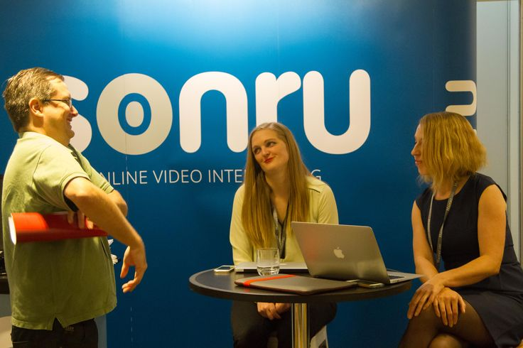 Dan Nurro wanders the vendor floor at ATC2015. Sonru, providers of video interviewing solutions was one of the many vendors at this year's conference.