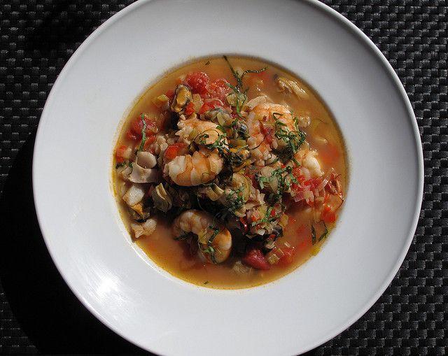 Mardi Gras Seafood Soup, oh yeah!