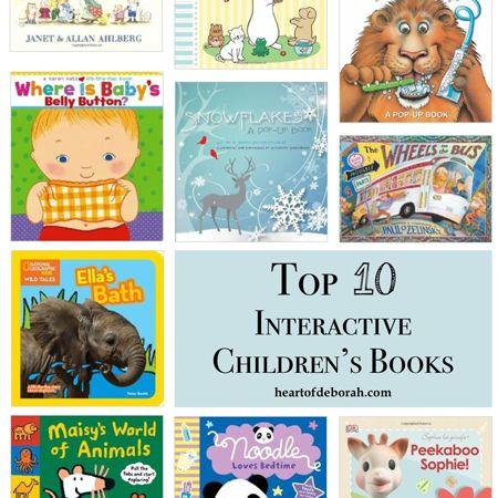 top 10 interactive children's books, list of best books
