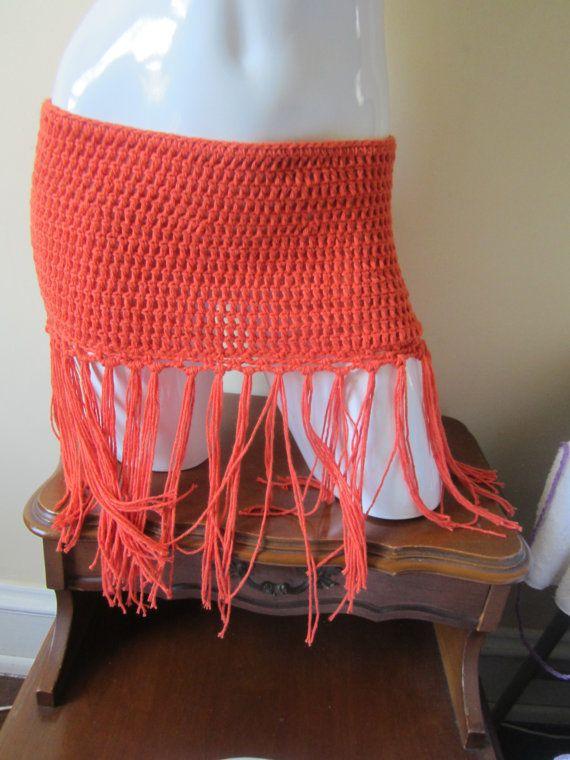 Crochet skirt Fringe skirt boho fringe skirt by Elegantcrochets